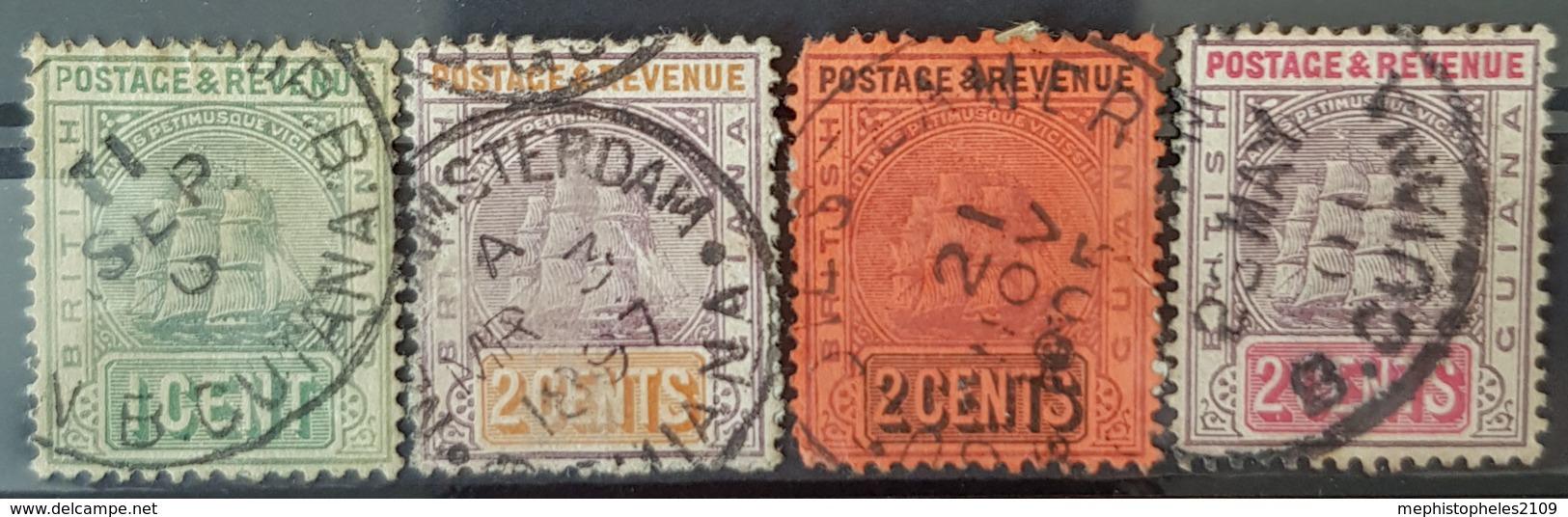 BRITISH GUIANA - Canceled - Sc# 131, 132, 133, 134, - British Guiana (...-1966)