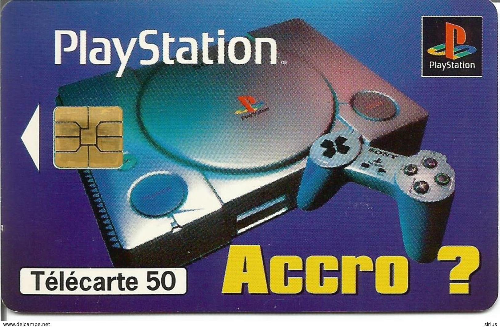 Télécarte SONY PLAYSTATION (Jeux Video) 50 U SO3 - 11/96 Utilisée - Jeux