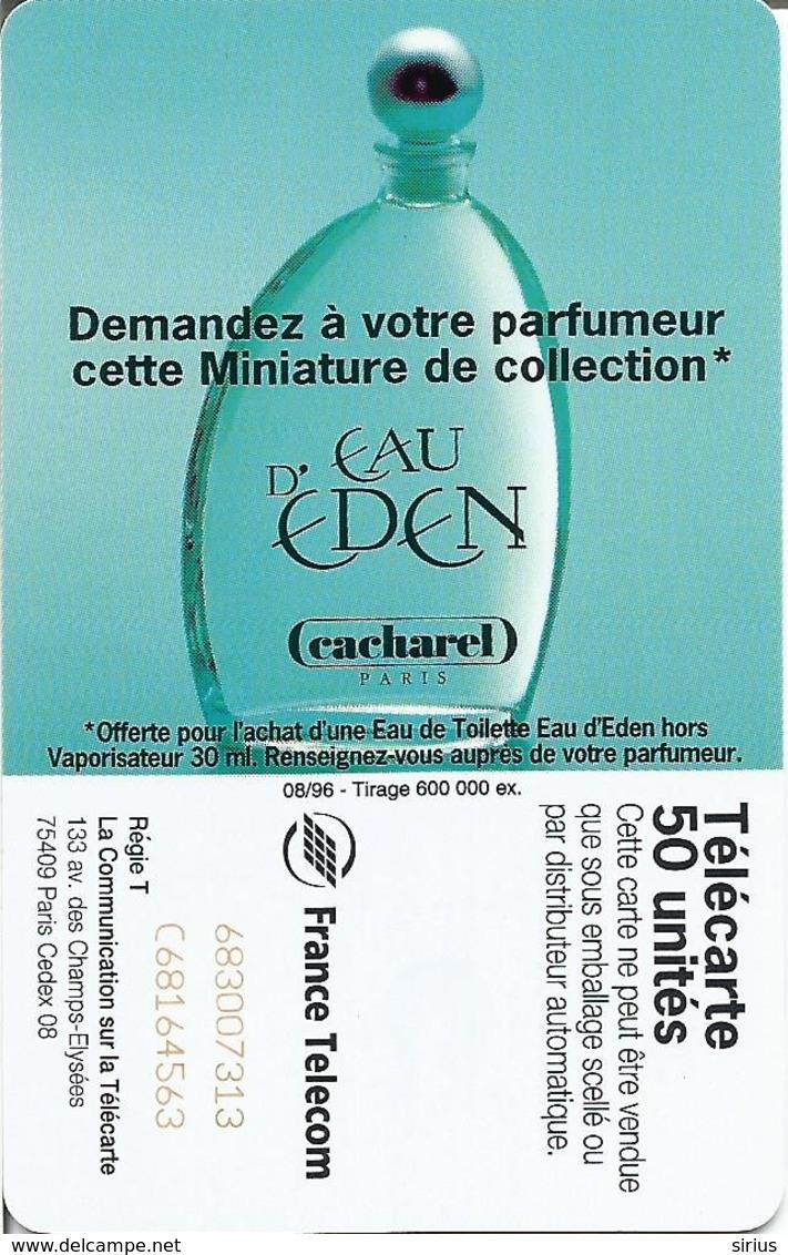 Télécarte PARFUM CACHAREL 50 U SC7 - 08/96 Utilisée - Parfum