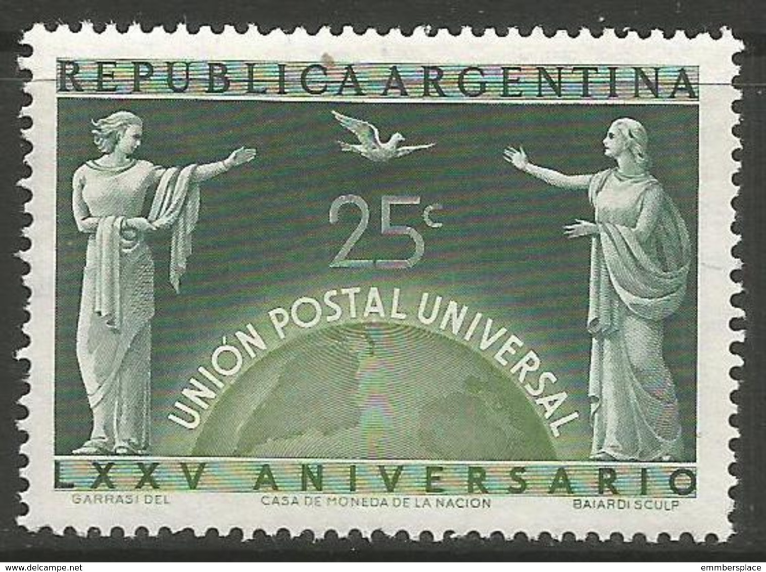 Argentina - 1949 UPU Anniversary MNH **   Sc 586 - Argentina