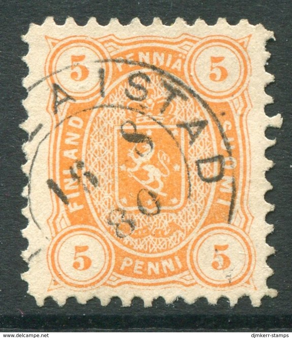 FINLAND 1875 5 P. Orange On Medium Paper, Used. Michel 13 Ayb - Gebraucht