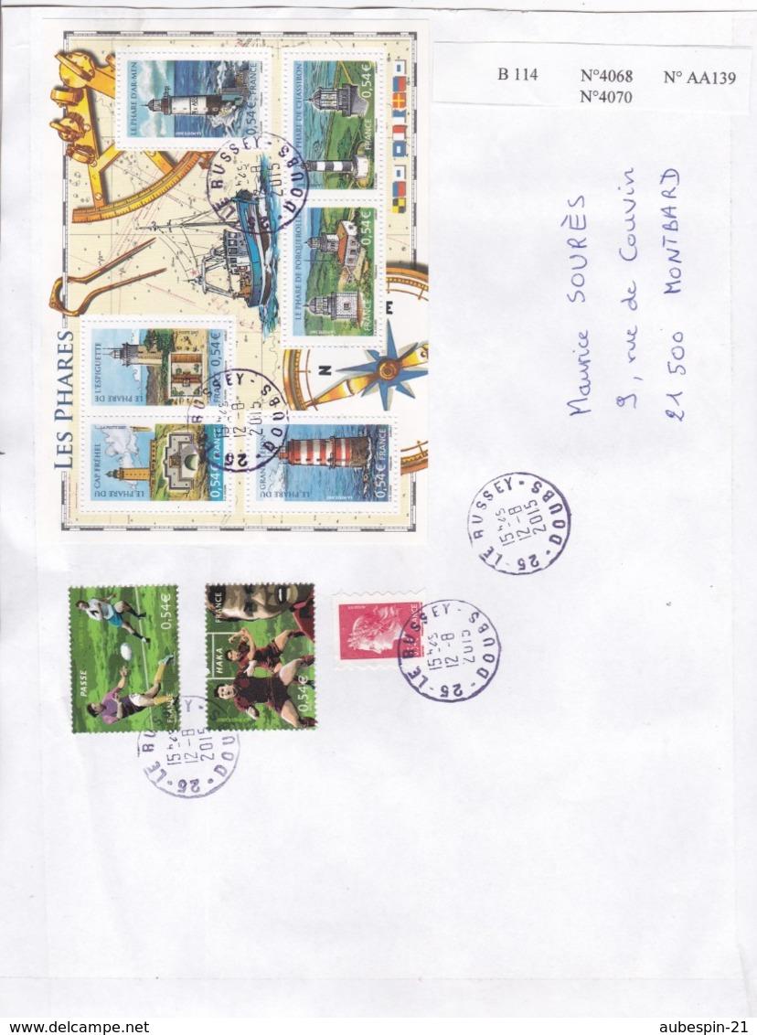Feuillet  LES PHARES  Année 2007(N° B 114) Sur Lettre - Marcophilie (Lettres)