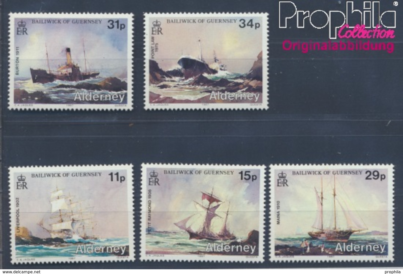 GB - Alderney Postfrisch Schiffswracks 1987 Schiffswracks  (8470793 - Alderney