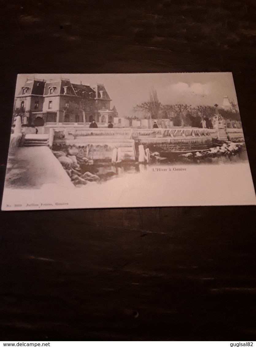 Cartolina Postale 1900, Genève, L'Hiver - GE Genf