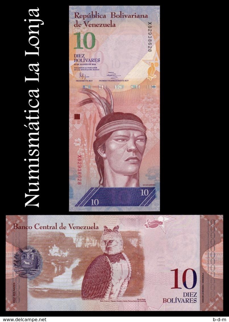 Venezuela 10 Bolívares Cacique Guaicapuro 2014 Pick 90e SC UNC - Venezuela