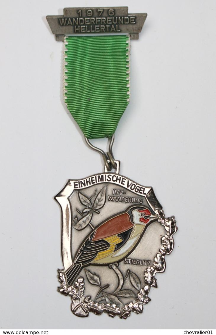 Médaille De Marche_018_1976, Wanderfreunde Hellertal, Einheimische Vogel, Chardonneret, Stieglitz - België