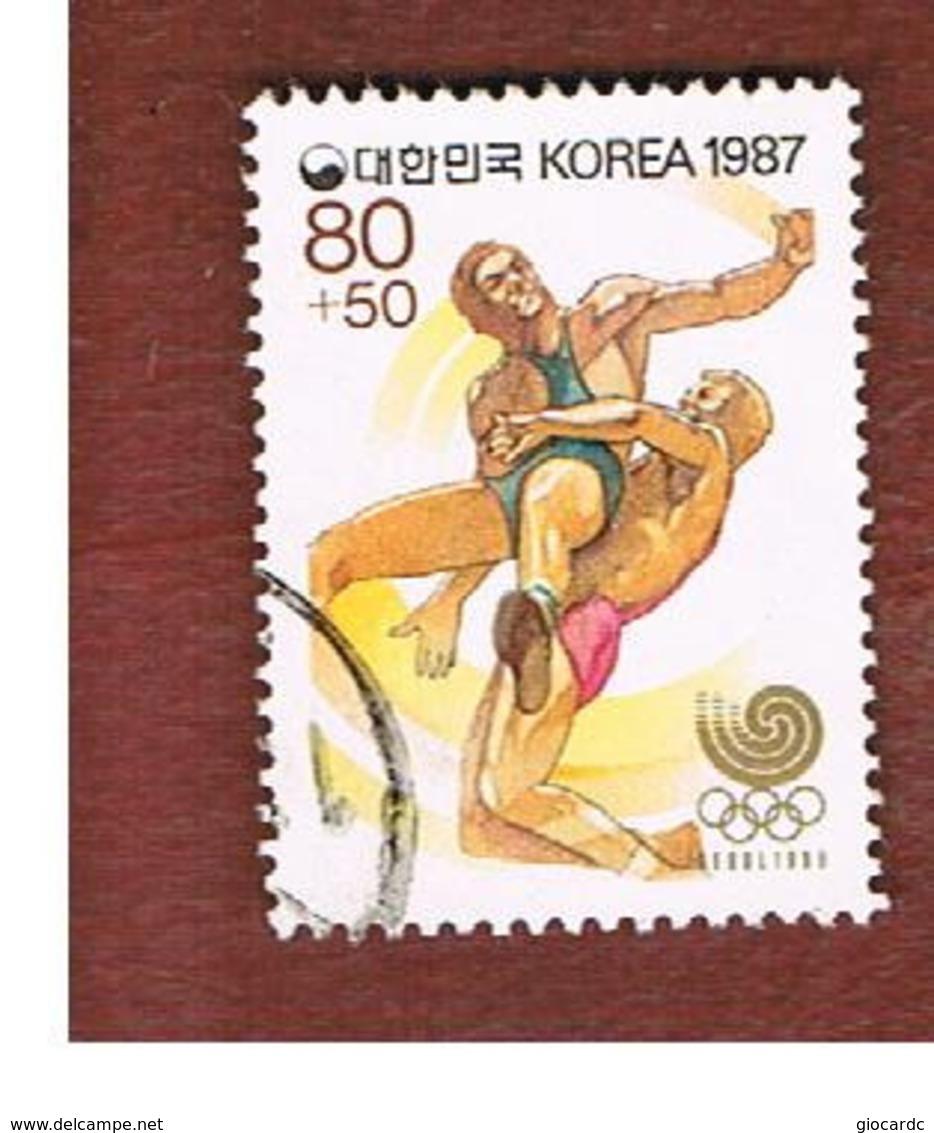 COREA  DEL SUD (SOUTH KOREA)   - SG 1784 -     1987   OLYMPIC GAMES: WRESTLING     - USED ° - Corea Del Sud