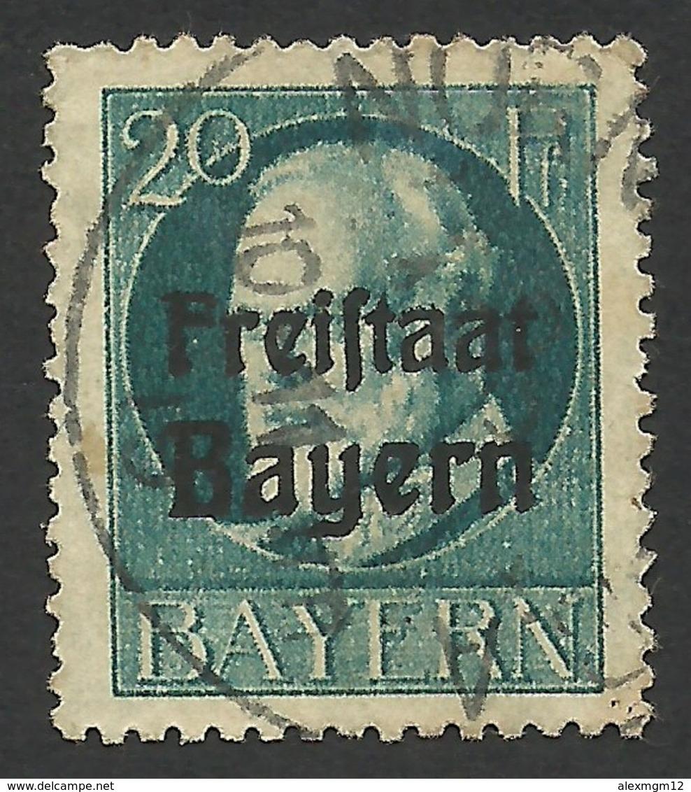 Bavaria, 20 Pf. 1919, Sc # 198, Mi # 157, Used, Nurnberg - Bavaria