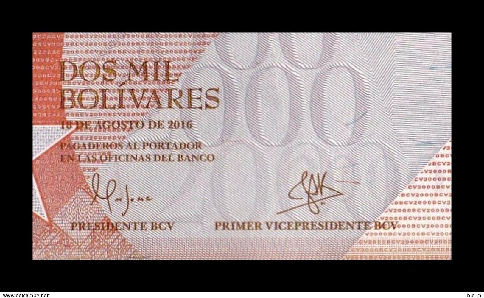 Venezuela 2000 Bolívares 2016 Pick 96 Sign 1 SC UNC - Venezuela