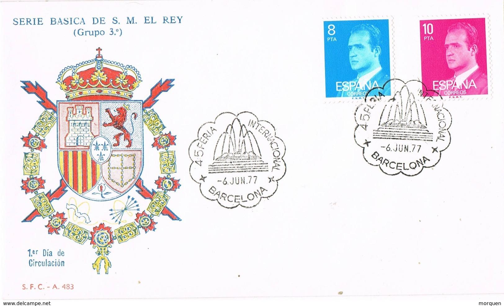 33961. Carta Exposicion BARCELONA  1977. 45 Feria Internacional Montjuich - 1931-Hoy: 2ª República - ... Juan Carlos I