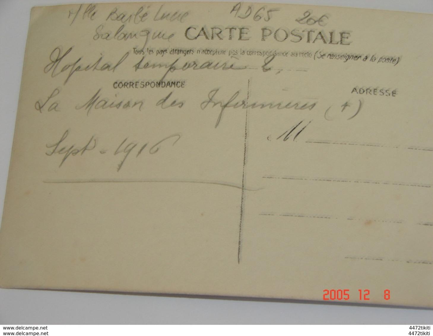 C.P.A..- Salonique - Maison D'Infirmières (Mlle Barbé L.) à L'Hôpital Temporaire 2 - 1916 - SUP (AD65) - Croix-Rouge