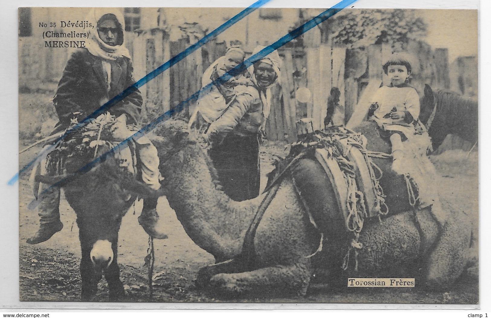 CPA TURQUIE MERSINE DEVEDJIS CHAMELIERS   ** TOROSSIAN Frères éditeurs  CILICIE ** PEU COURANT ** - Turquie