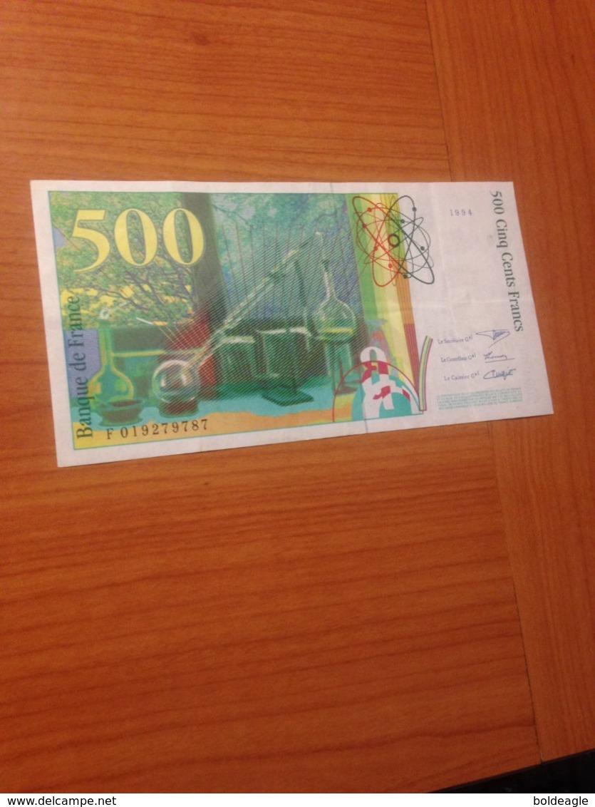 500 F Pierre Et Marie Curie 1994 TTB   (port Offert ) - 500 F 1994-2000 ''Pierre Et Marie Curie''
