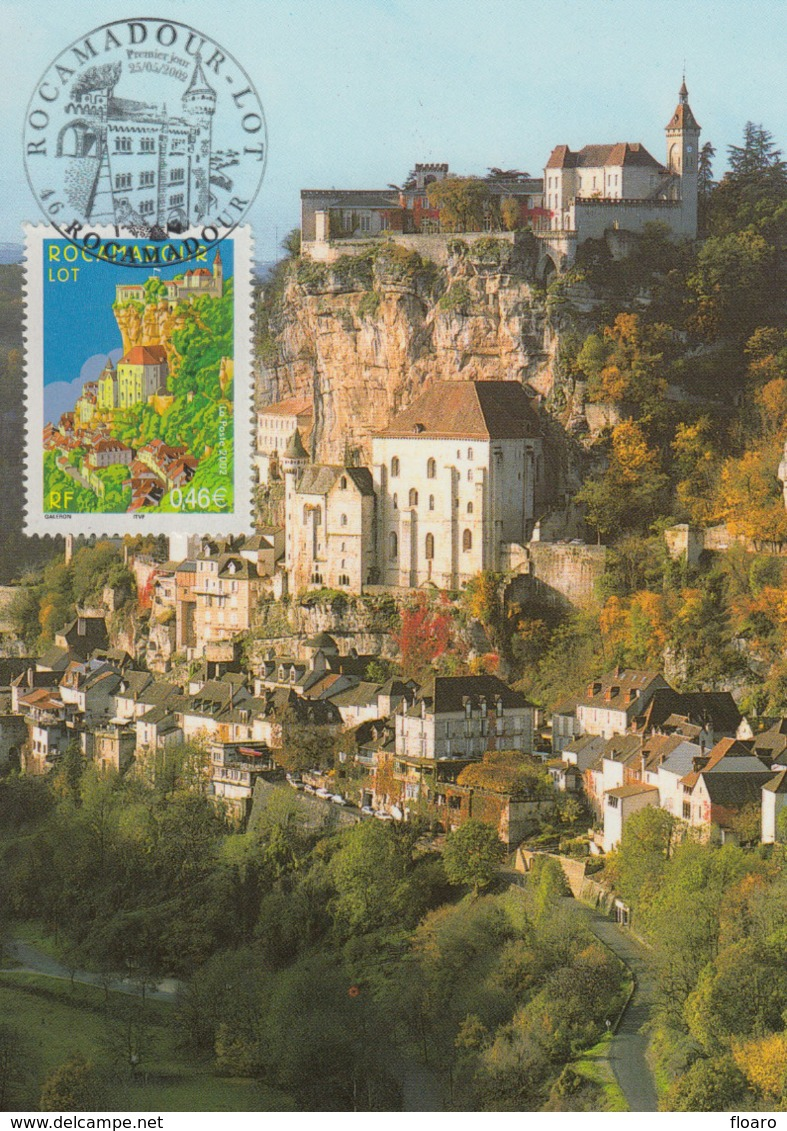 Carte-Maximum FRANCE N°Yvert 3492 / Rocamadour - 2000-09