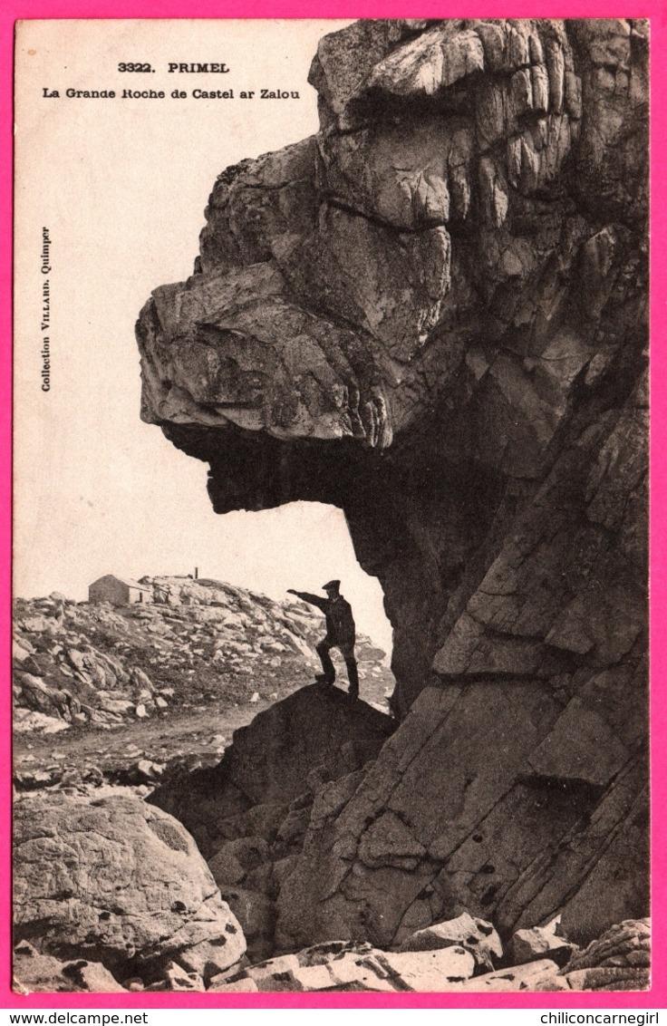 Primel - La Grande Roche De Castel Ar Zalou - Animée - Collection VILLARD - 1901 - Oblit. OR ORIGINE RURALE - Primel