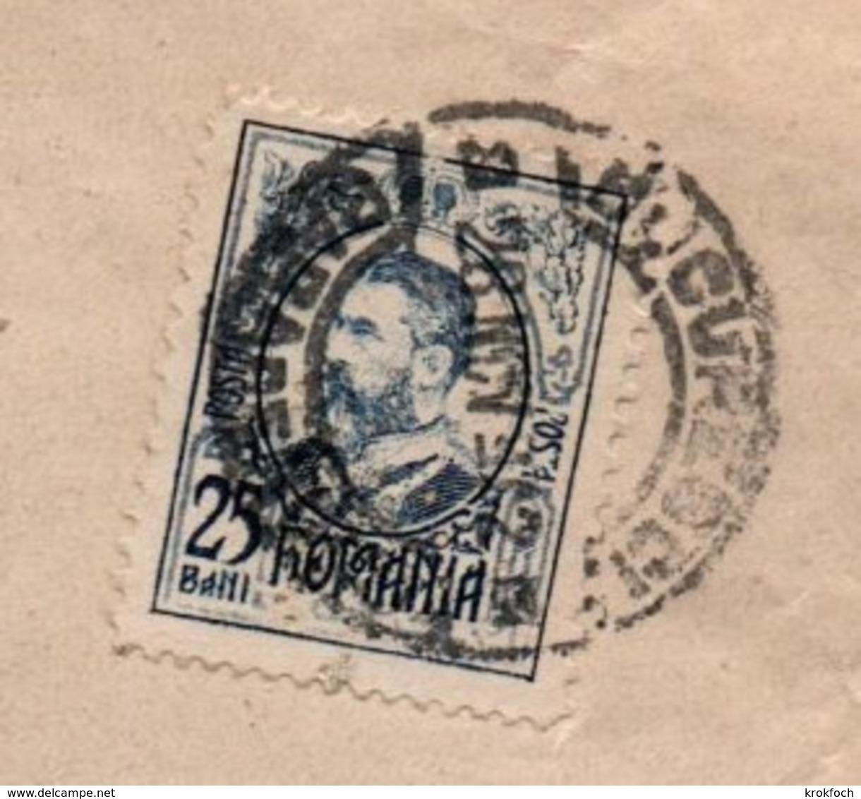 Banque Banca Perforé Roumanie - Marmorosch Bucuresti & Dall'Orso Galatz - Perfint Perforated - !!! Devant De Lettre Seul - Covers & Documents