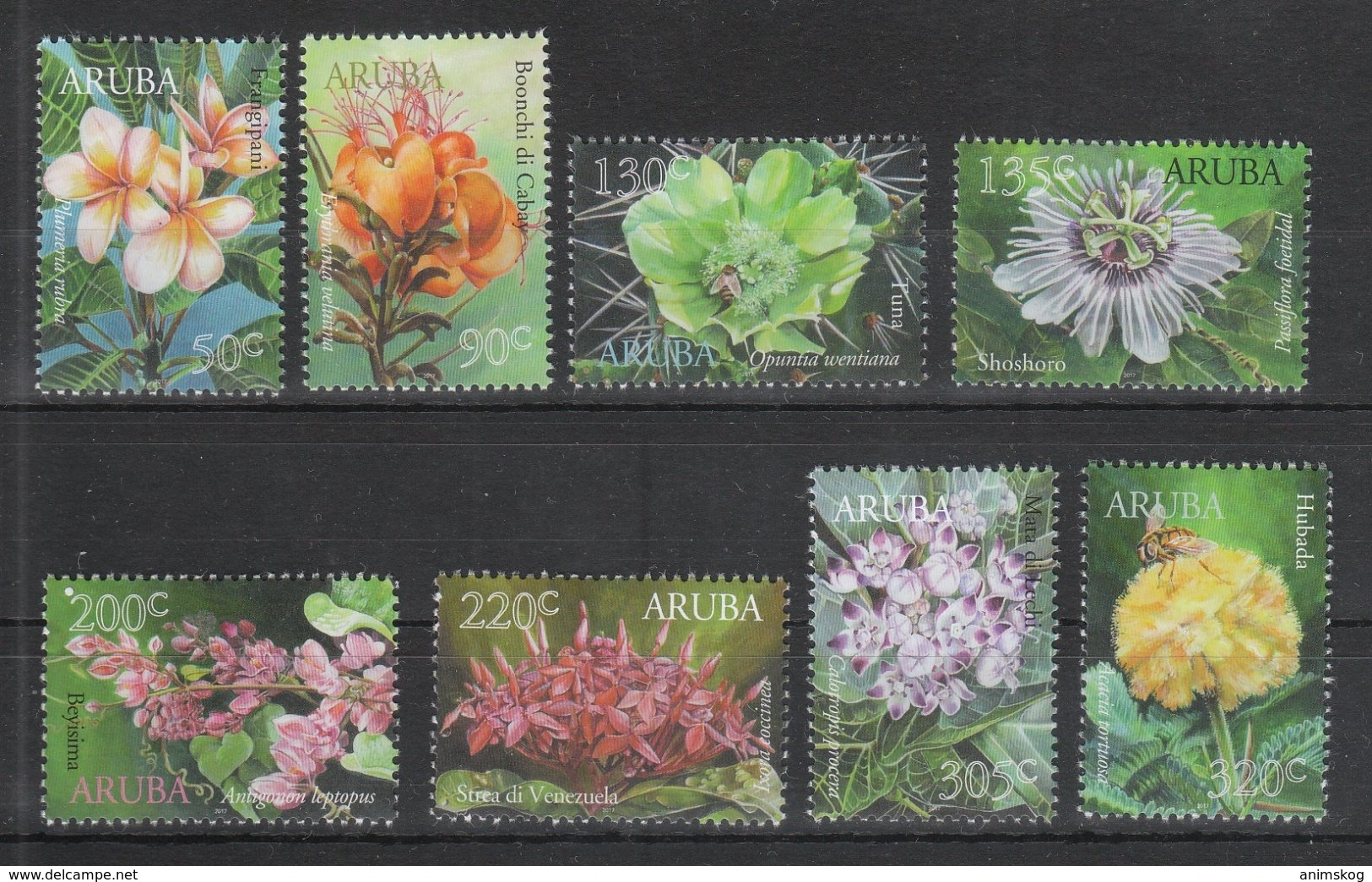 Aruba 2017**, Flora Von Aruba, Kaktus, Sukkulente / Aruba 2017, MNH, Aruban Flora, Cactus, Succulent - Sukkulenten