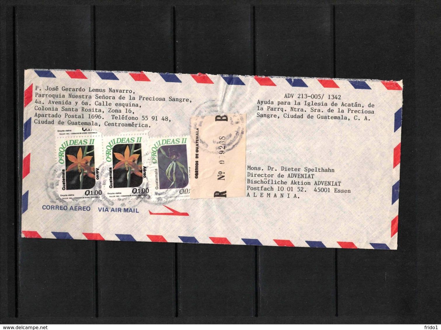 Guatemala Interesting Airmail Registered  Letter - Guatemala