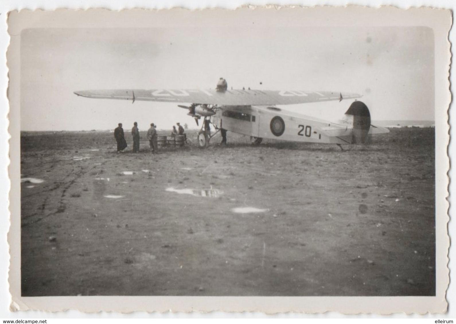 AVIATION. PHOTO. FOKKER. PHOTO PRISE Au MAROC. AGADIR. ANNEES 30. A SITUER. - Aviation