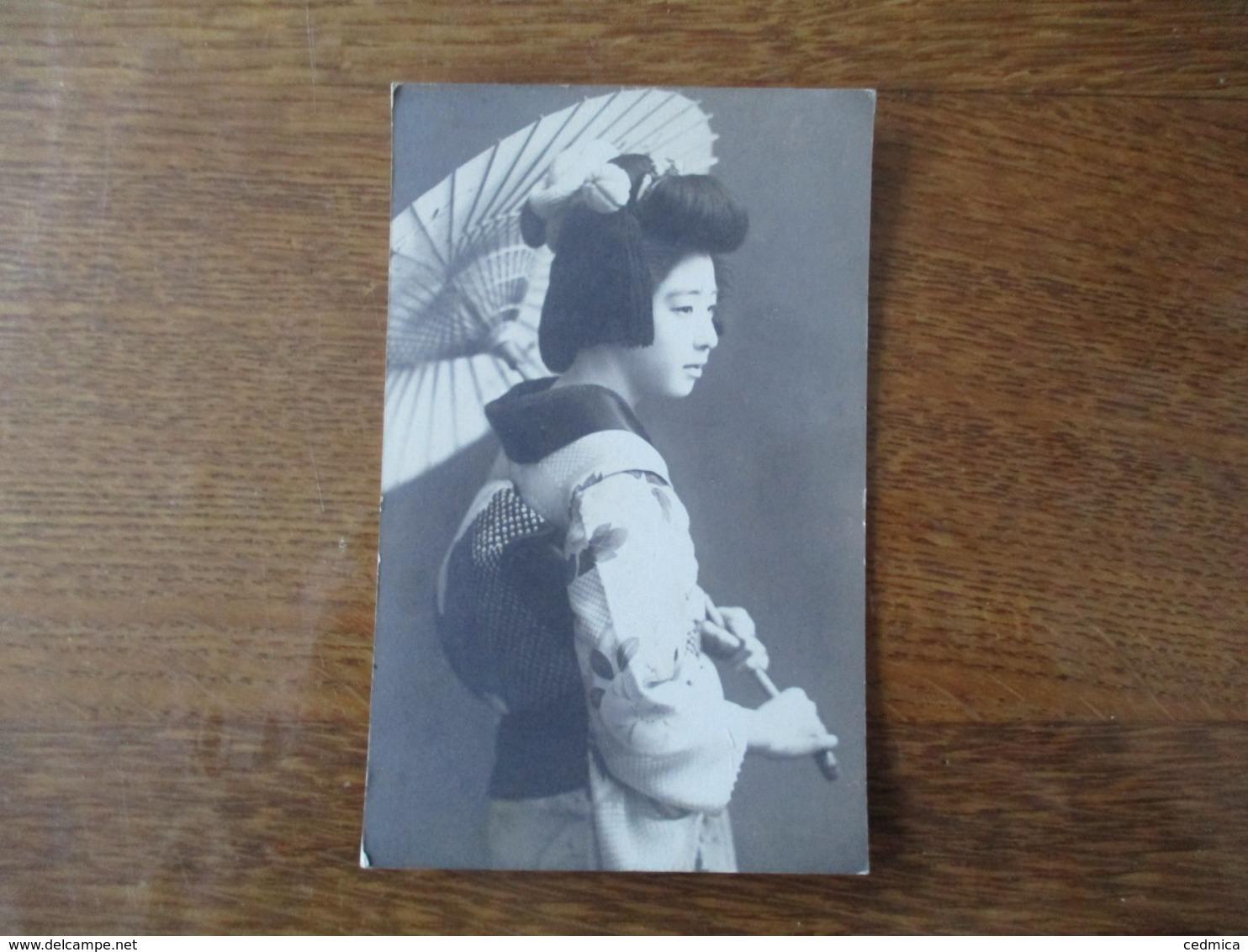 GEISHA  CARTE EN BOIS KAMIGATAYA GINZA. TOKYO - Autres