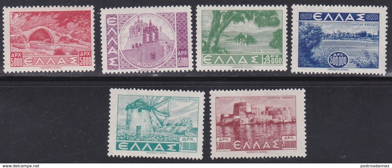 Greece, Scott #437-454, Mint Hinged, Scenes Of Greece, Issued 1942 - Greece