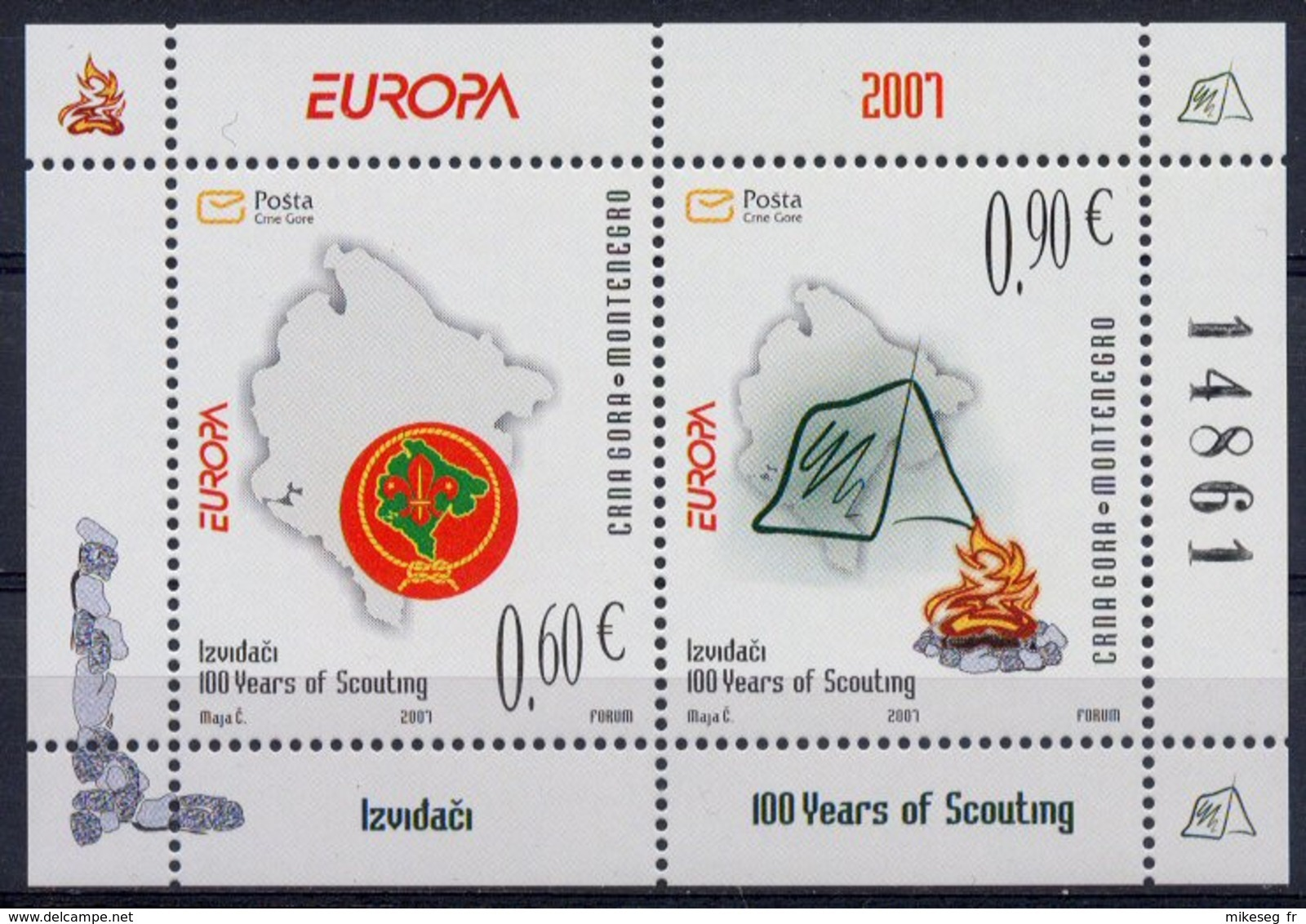 Europa 2007 - CRNA GORA Montenegro (scoutisme) ** - Europa-CEPT