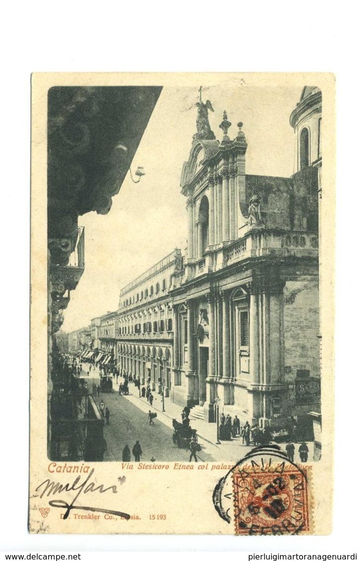 13589 - Catania - Via Stesicoro Etnea Col Palazzo Della R. Prefettura - Catania