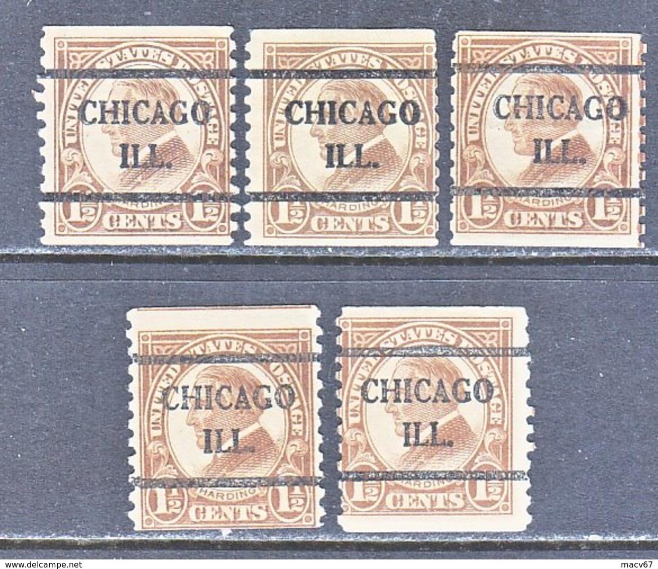 U.S. 598   Perf. 10   (o)   ILLINOIS      1925   Issue - Precancels