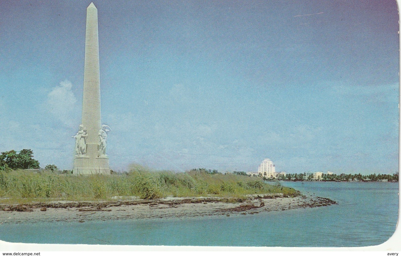Flagler Memorial Monument In Biscayne Bay, Miami Beach, Florida - Miami Beach