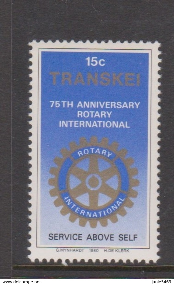 South Africa-Transkei SG 70 1980 75th Anniversary Of Rotary,Mint Never Hinged - Transkei
