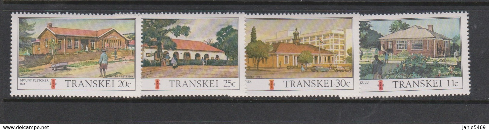 South Africa-Transkei SG 156-159 1984 Post Offices,Mint Never Hinged - Transkei
