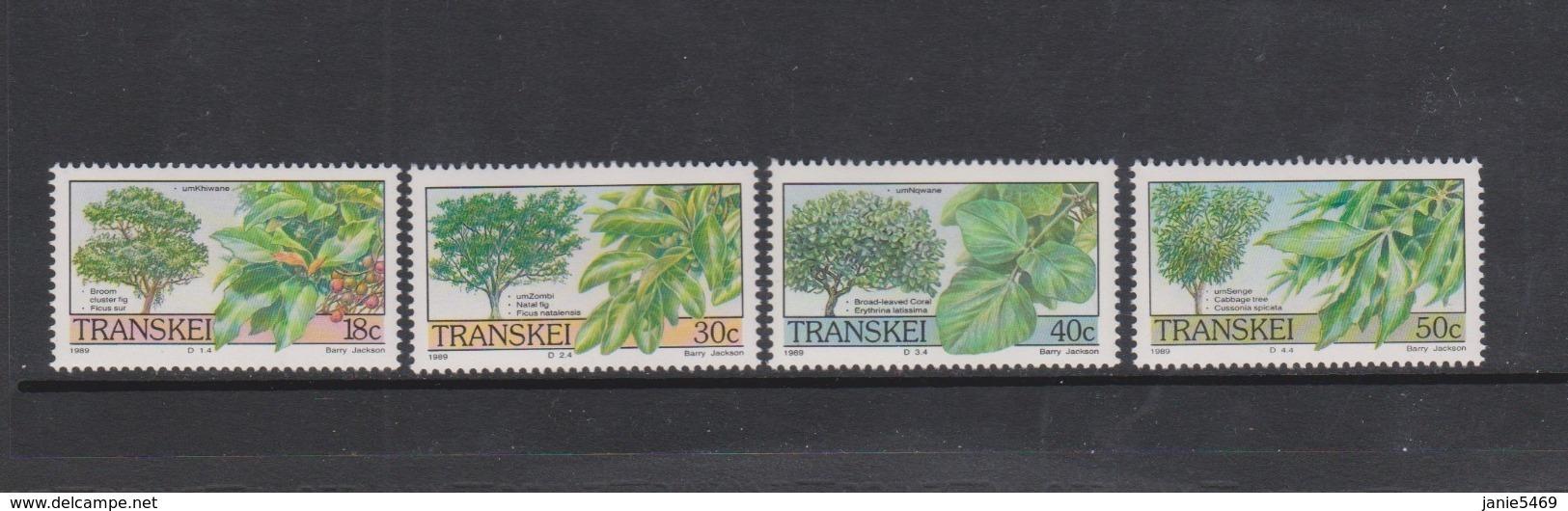 South Africa-Transkei SG 241-244 1989 Trees,Mint Never Hinged - Transkei