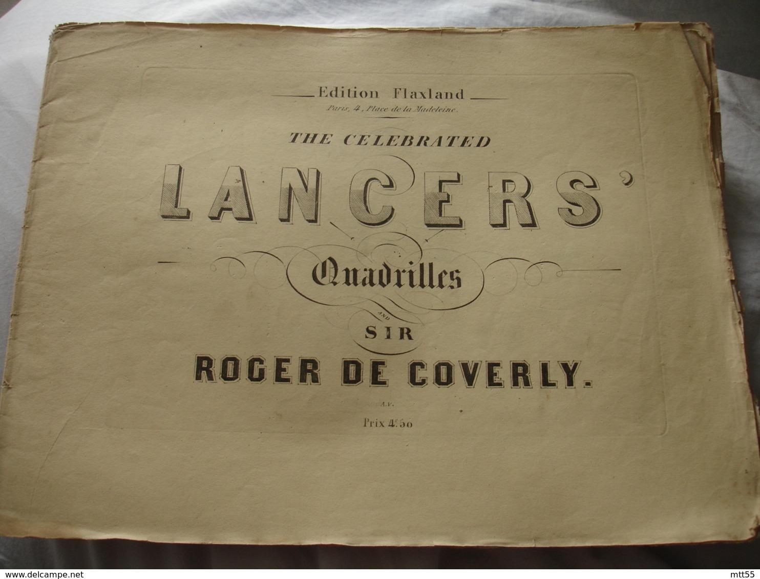 Partition Musique Ancienne 19 Eme Quadrille Lancers  Roher De Covery - Musique & Instruments