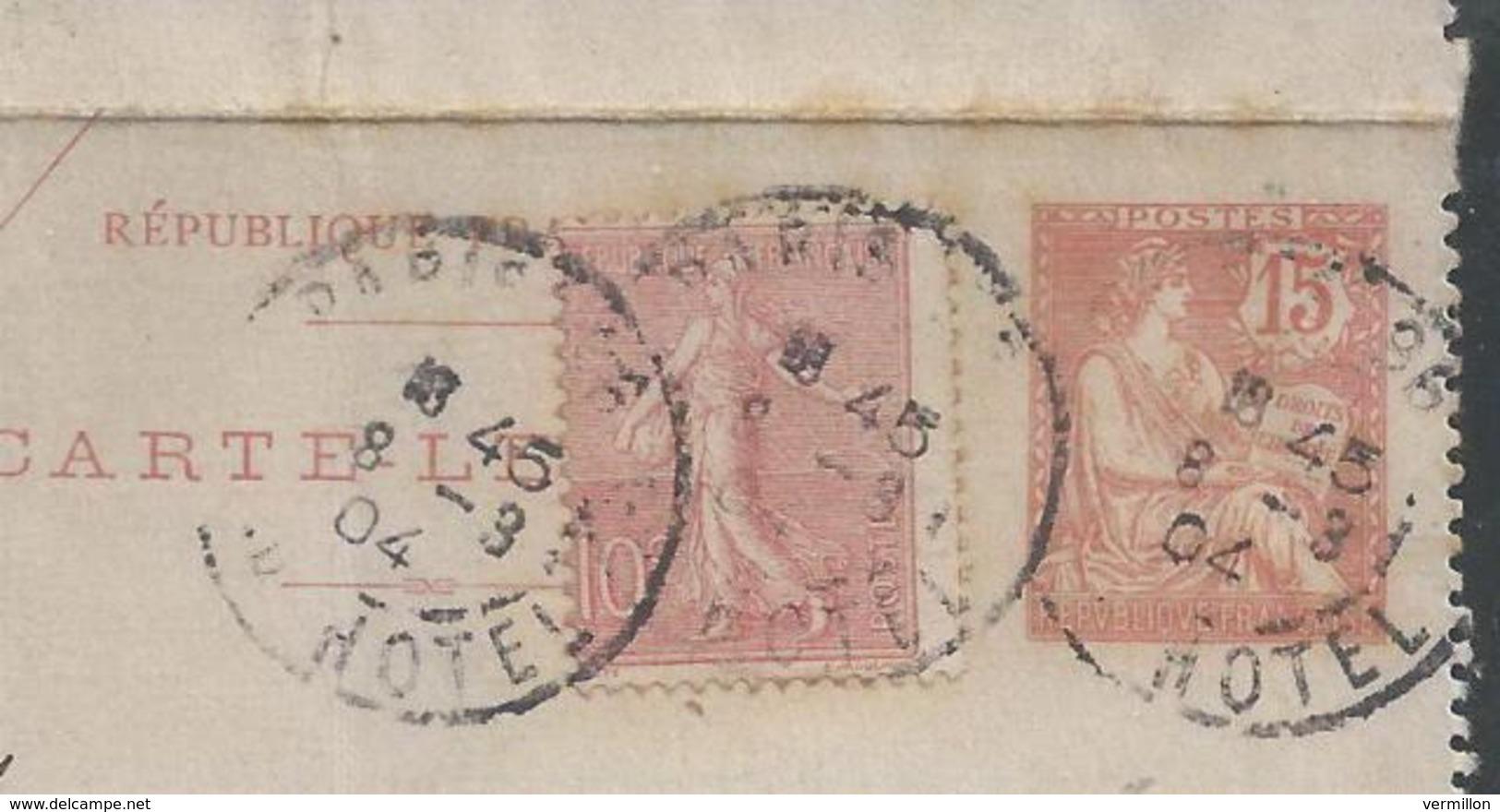 LZ-/-060--  N° 125- CL 1 , Obl. ( 1904 ) , DATE 341 , TARIF POUR LA SUISSE, ZOUG LIQUIDATION , - Entiers Postaux