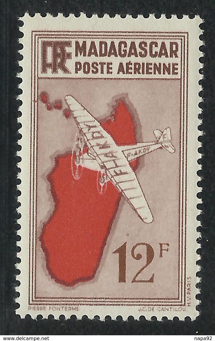 MADAGASCAR 1935 MAURY PA 25a ** - VARIETE CADRE GAUCHE BARRE - Madagascar (1889-1960)
