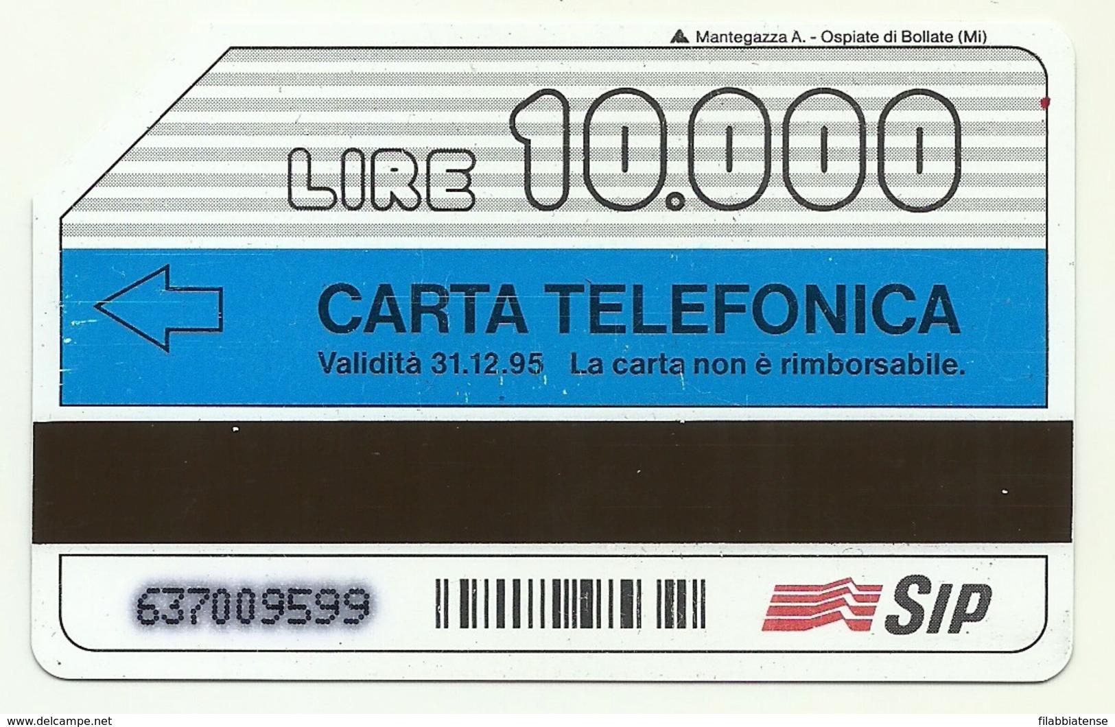 Italia - Tessera Telefonica Da 10.000 Lire N. 293 - 31/12/95 Storia Del Telefono - Italia