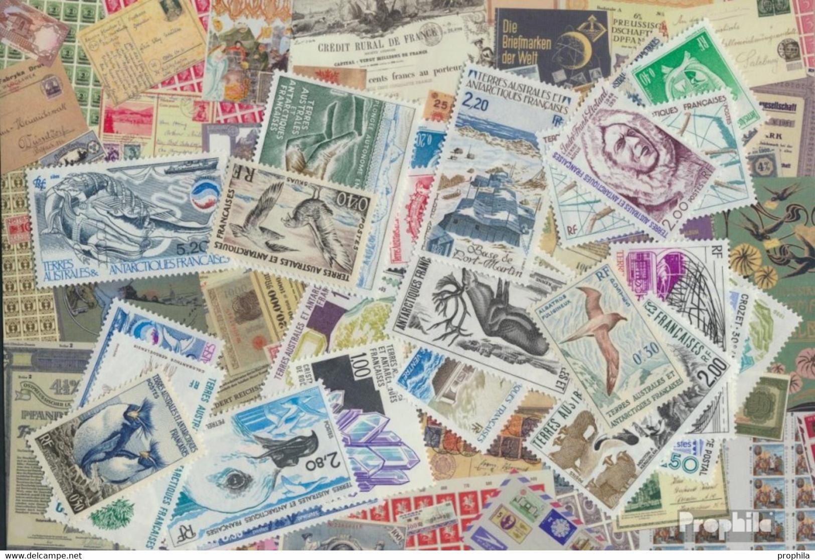 Französ. Gebiete Antarktis Briefmarken-100 Verschiedene Marken - Lots & Serien