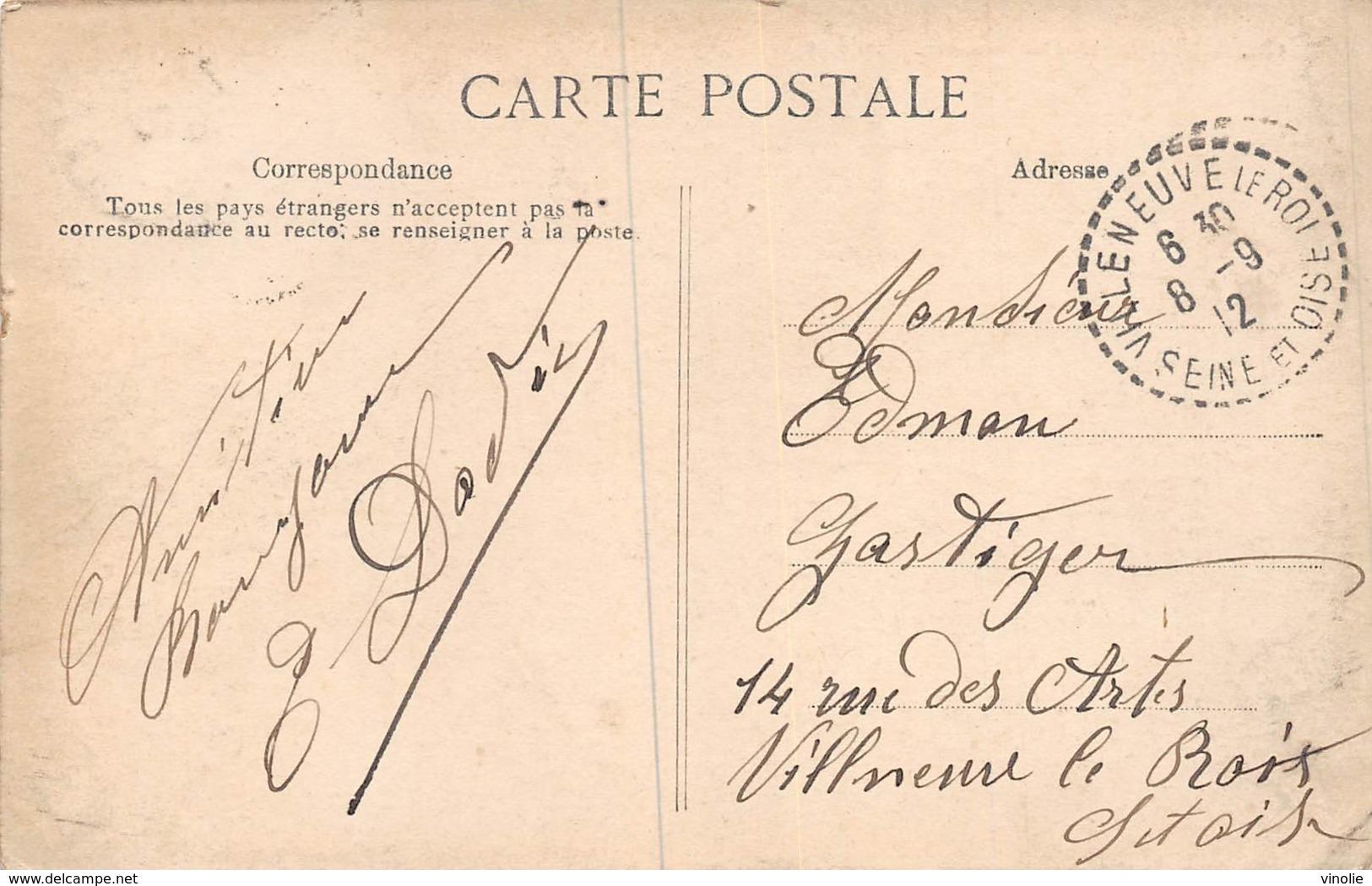 PIE.GRAND-FORMAT-19-GM-484 : CARTE POSTALE VALENCIENNES AVEC CACHET  VILLENEUVE LE ROI. - Marcophilie (Lettres)