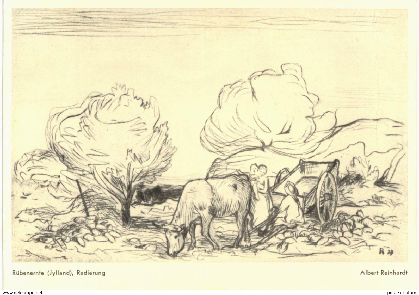 Thème - Art - Albert Reinhardt Rübenernte (Jylland) , Radierung VOIR ETAT - Arts