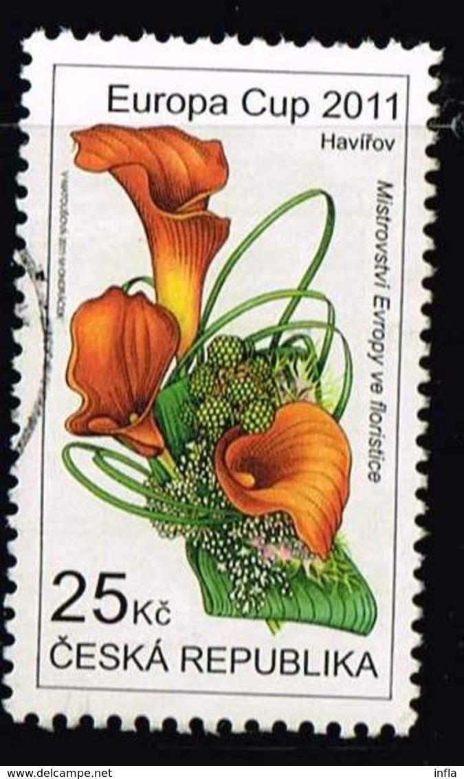 Tschechien 2011, Michel# 688 O European Florists Championship - Europa Cup 2011 - Gebraucht