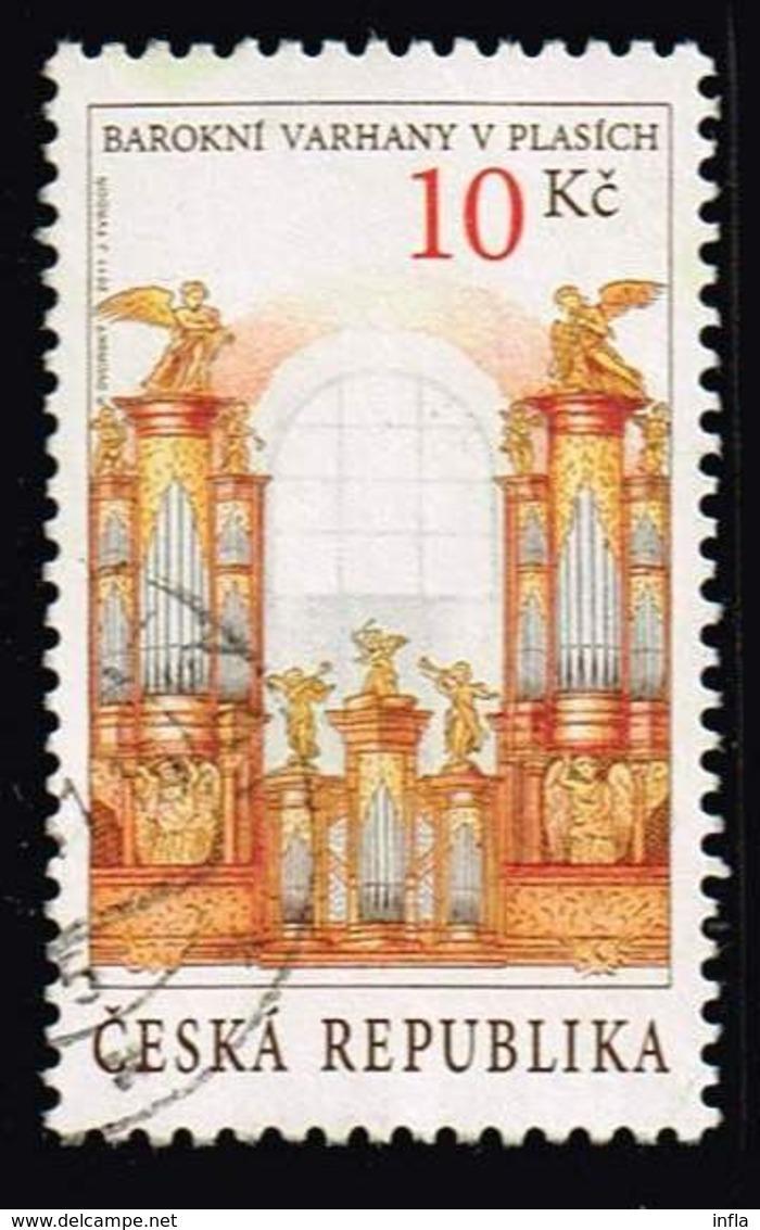 Tschechien 2011, Michel# 696 O Historic Organs In Plasy Monastery - Czech Republic