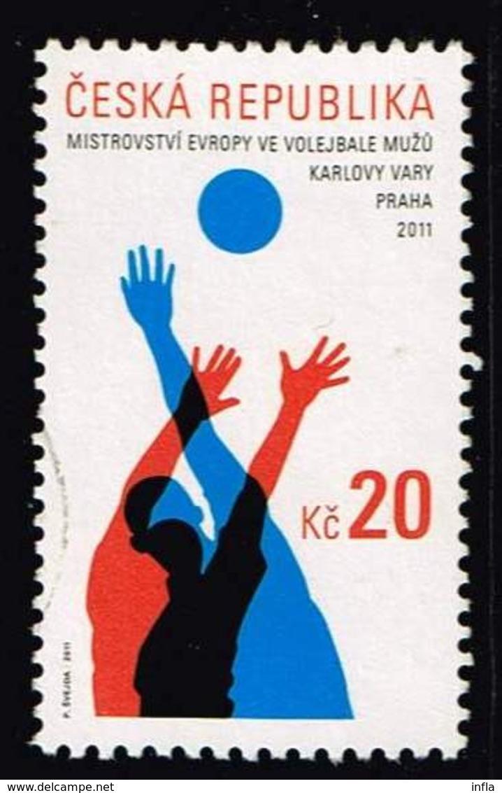 Tschechien 2011, Michel# 689 O 2011 Men's European Volleyball Championship - Gebraucht