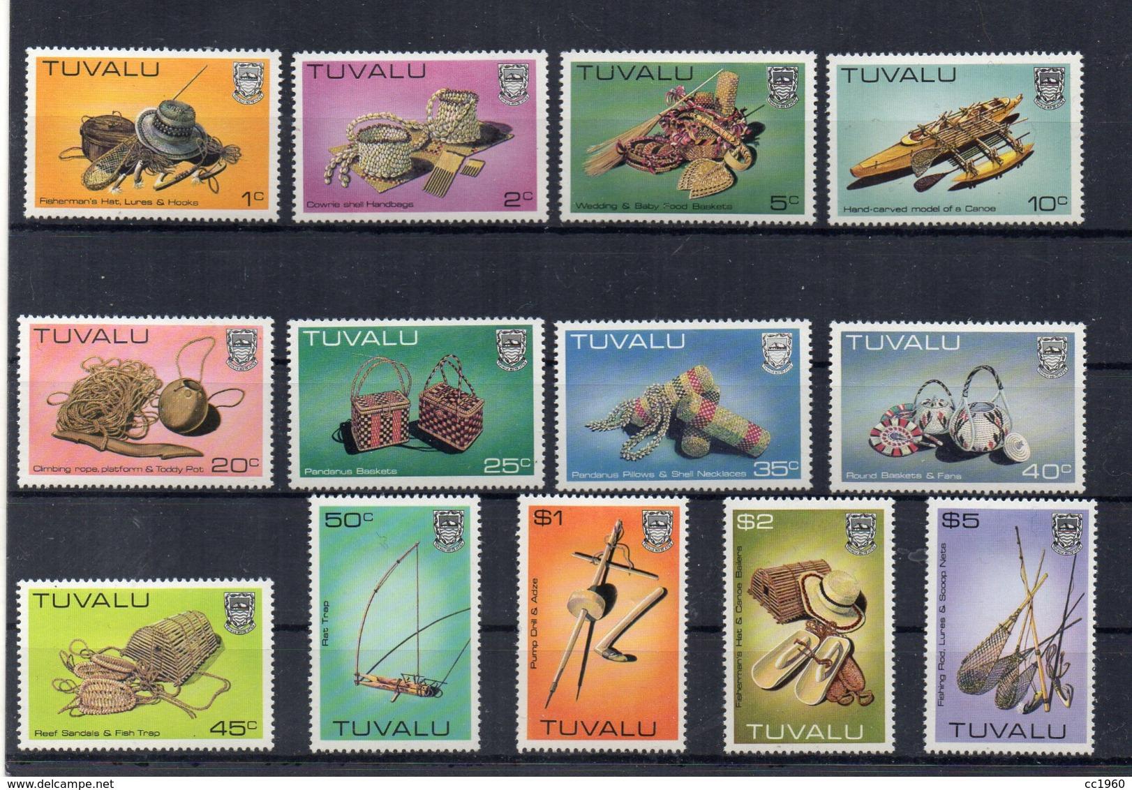 TUVALU - 1983 - Artigianato - 13 Valori . Nuovi - Linguellati - (FDC16982) - Tuvalu
