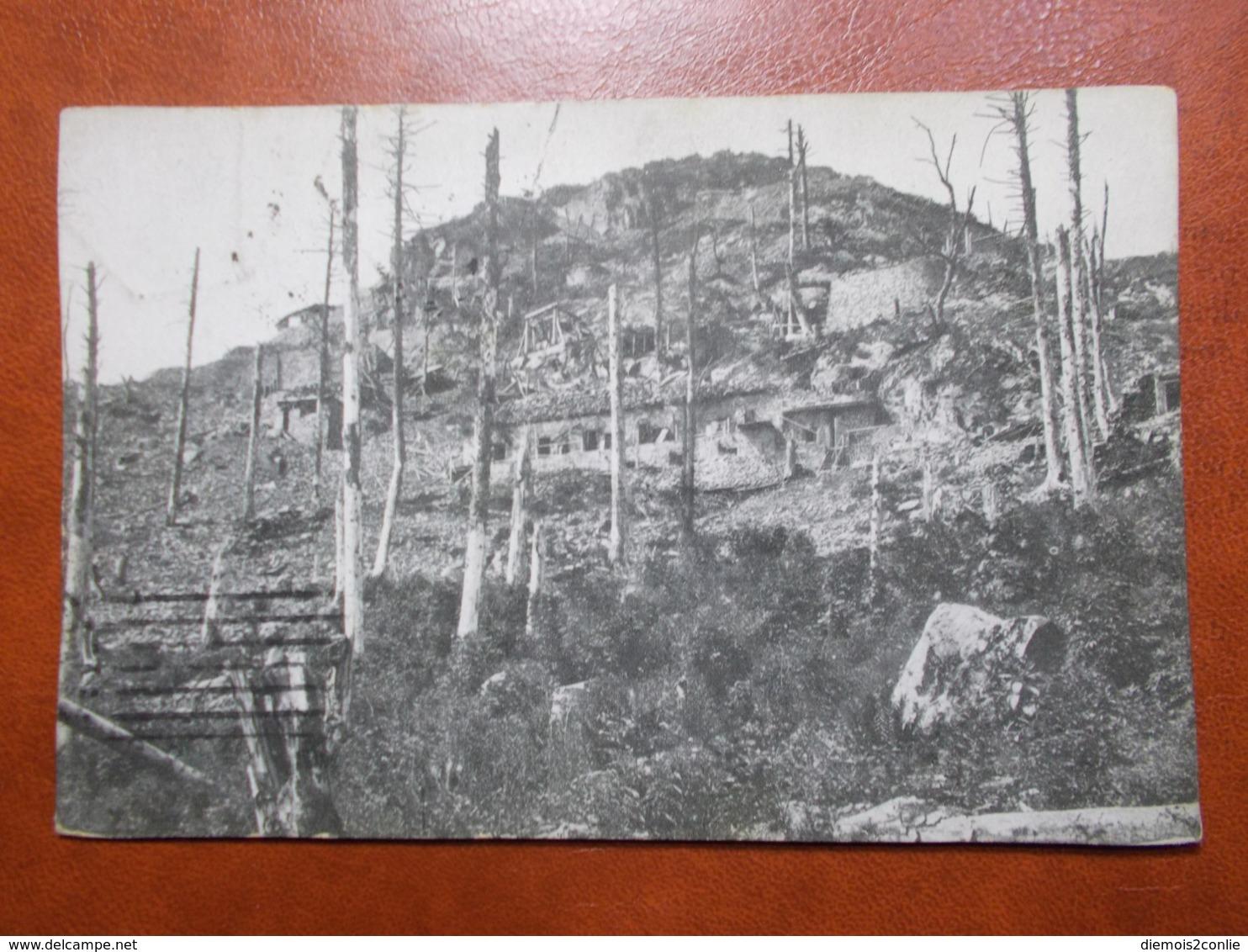 Carte Postale  - Rocher Et Abris Allemands Au VIEIL ARMAND (3520) - Frankreich