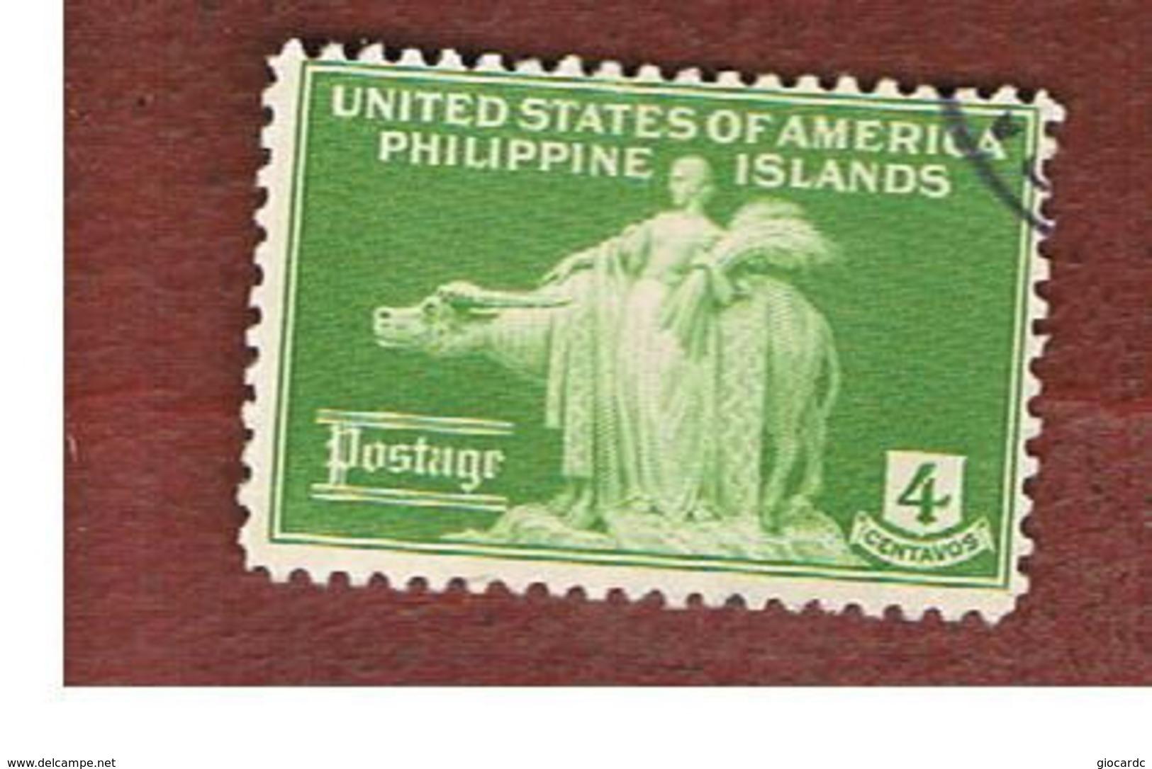 FILIPPINE (PHILIPPINES) - SG 460  -  1935  WOMAN & CARABAO      - USED ° - Filippine