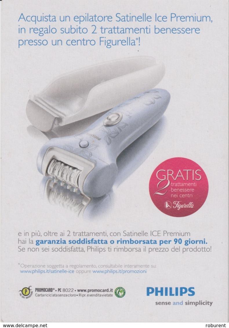 "PUBBLICITA'  ADVERTISING - 1 CARTOLINA PROMOCARD ""L'EPILATORE SATINELLE""  - N°8022 - Werbepostkarten"