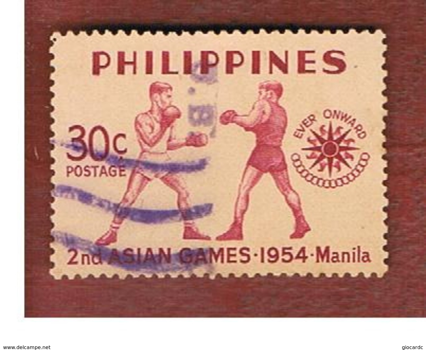 FILIPPINE (PHILIPPINES) - SG 768  -  1954 ASIAN GAMES: BOXING - USED ° - Filippine