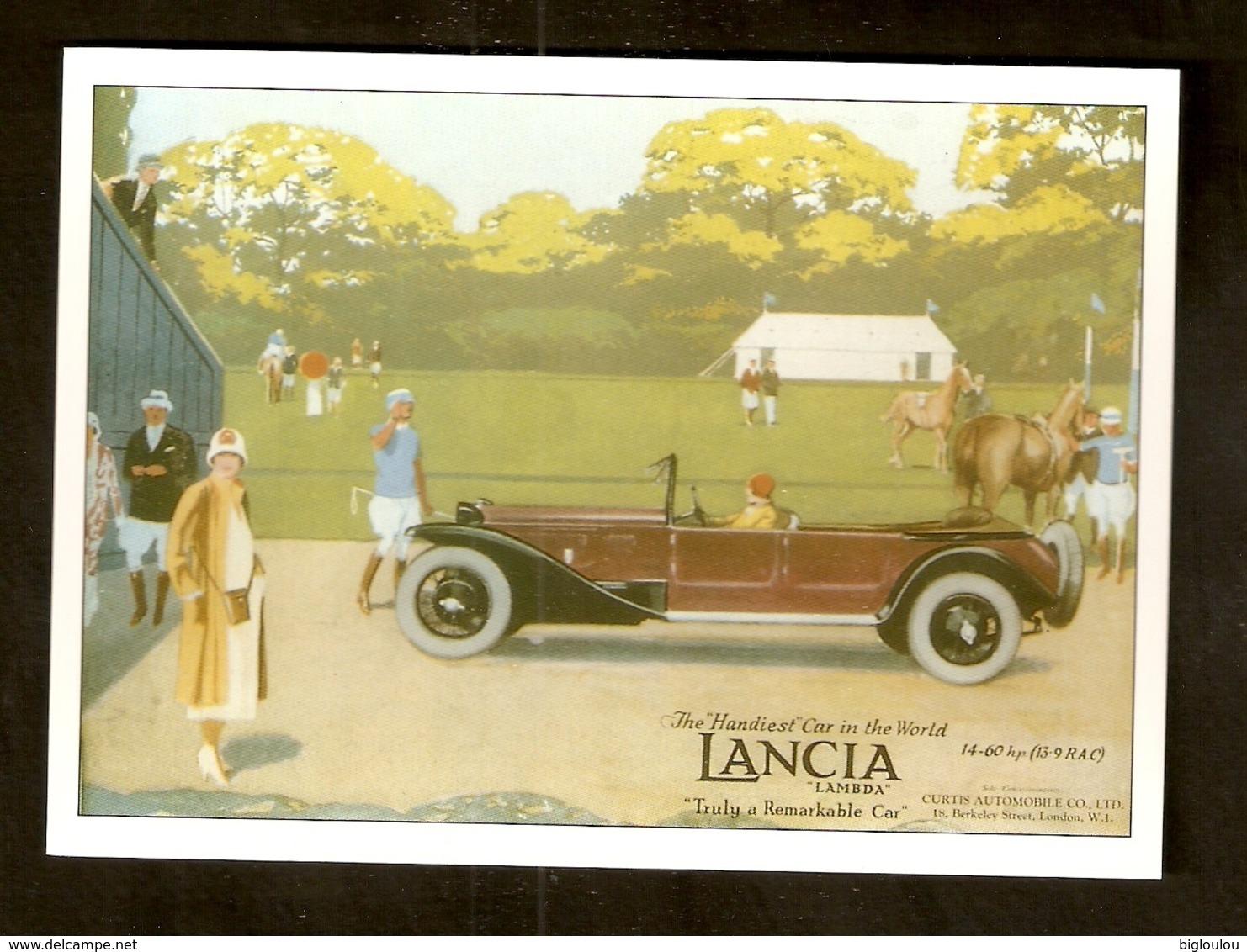 Carte - Repro Publicité Ancienne - Automobile LANCIA - Werbepostkarten