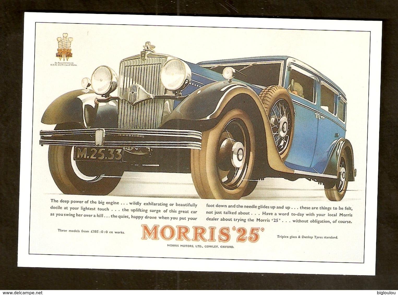 Carte - Repro Publicité Ancienne - Automobile MORRIS - Werbepostkarten