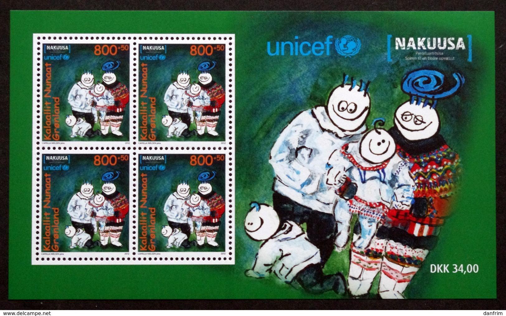 Greenland 2012 UNICEF / NAKUUSA   Minr.602  BLOCK 57   MNH  ( ** ) ( Lot  Mappe  ) - Unused Stamps